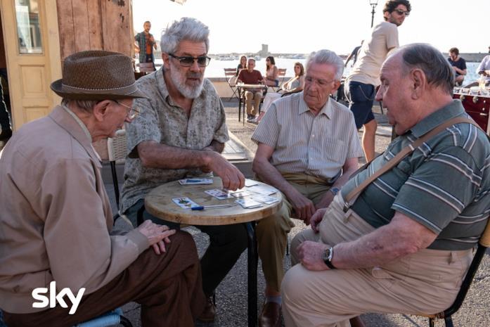 Il quartetto di anziani de I delitti del BarLume