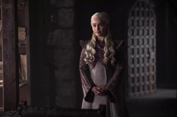 Emilia Clarke in Game of Thrones 8