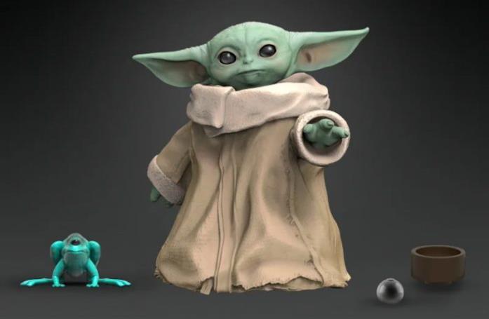 Baby Yoda Black Series con rana e ciotola giocattolo by Hasbro