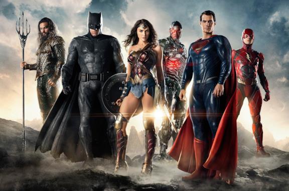 Immagine promozionale del cinecomic Justice League del 2017