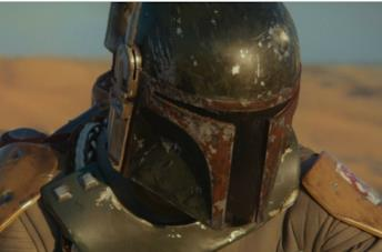 Temuera Morrison è Boba Fett in un frame dalla seconda stagione di The Mandalorian