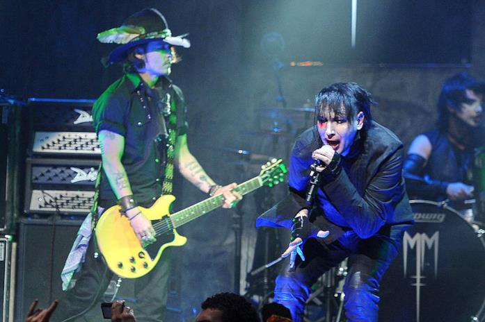 Johnny Depp e Marilyn Manson live