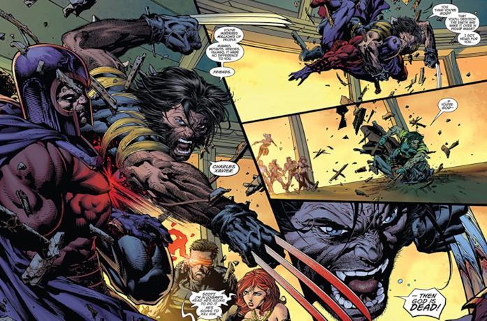 Una tavola a fumetti tratta dalla saga Marvel Comics Ultimatum