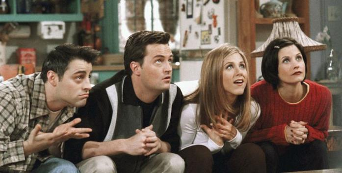 I personaggi di Joey, Chandler, Rachel e Monica in Friends