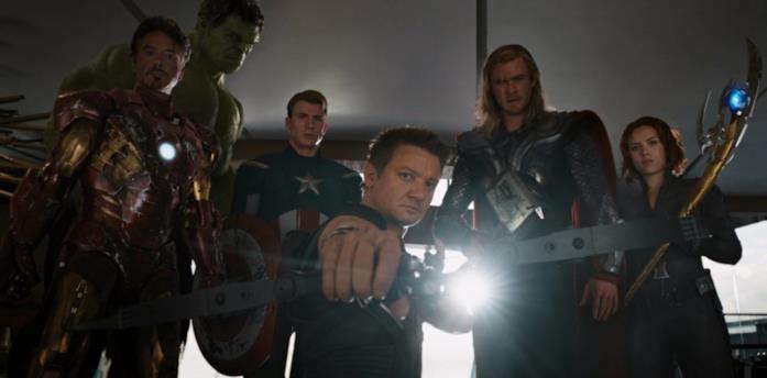 Un'immagine dei Vendicatori in The Avengers