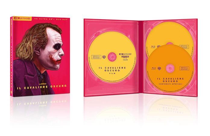 Joker nella copertina del cofanetto Blu-ray de Il Cavaliere Oscuro