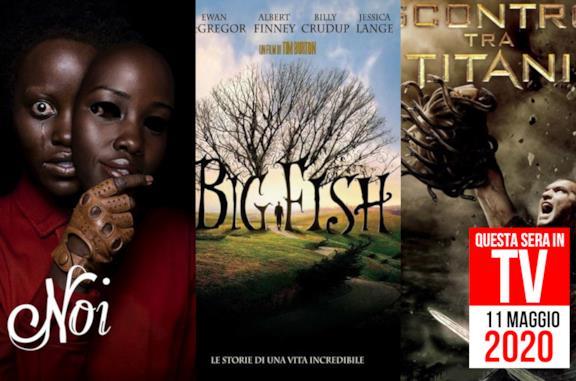 Film in TV stasera: lunedì 11 maggio con Scontro tra Titani e l'horror Noi