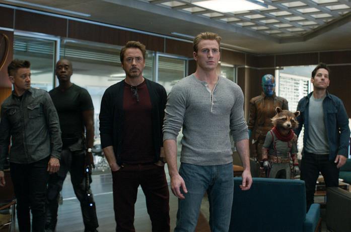 Alcuni dei Vendicatori in Avengers: Endgame