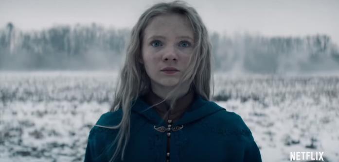 La piccola Ciri nella serie Netflix tratta dai romanzi di The Witcher
