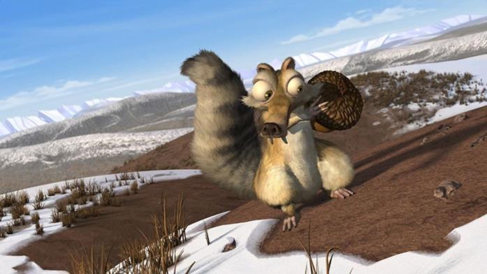 Lo strampalato scoiattolo Scrat e la sua preziosa ghianda