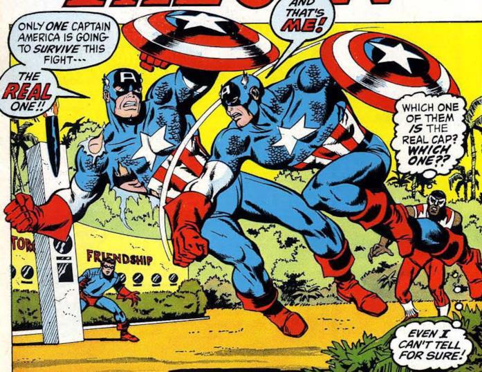 Due Capitan America che combattono
