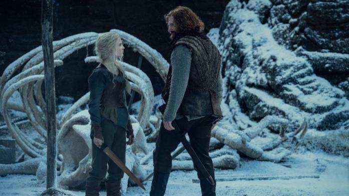 Ciri e Lambert nella seconda stagione di The Witcher