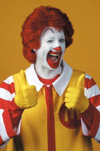 Ronald McDonald in primo piano