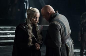 Conleth Hill nei panni di Lord Varys in Game of Thrones 8x04