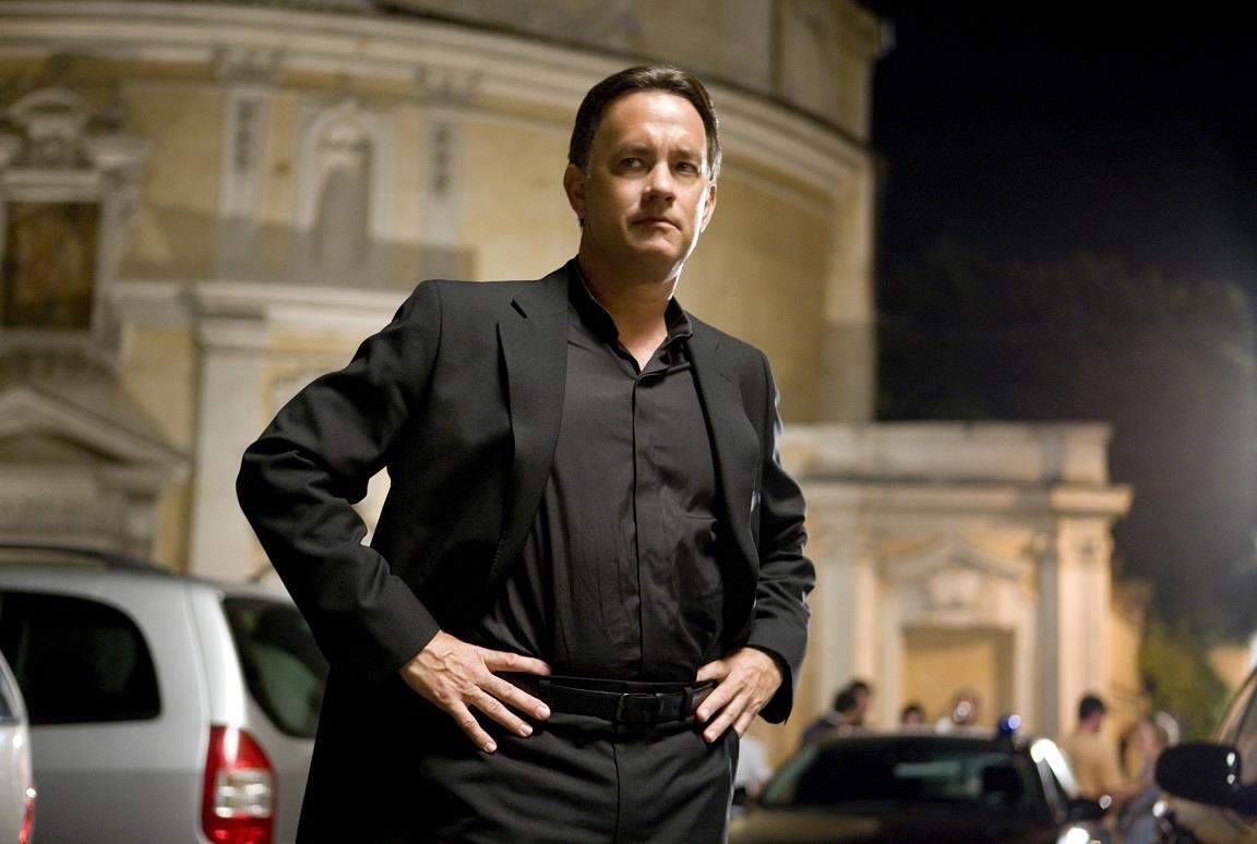 Tom Hanks nel ruolo di Robert Langdon