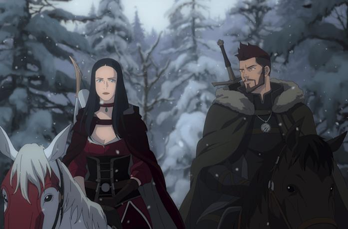 Tetra e Vesemir in Nightmare of the Wolf