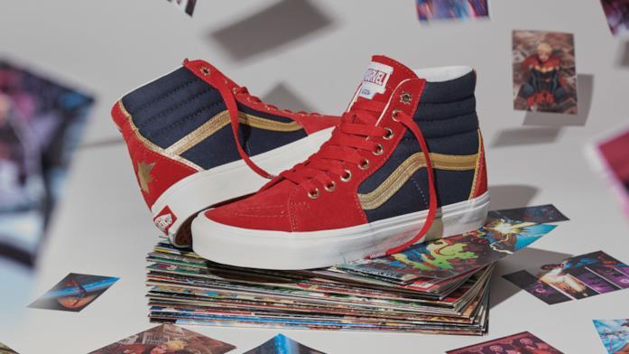 Le scarpe di Captain Marvel della collezione Vans