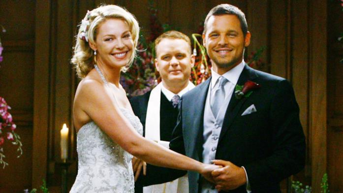 Izzie e Alex nell'episodio del matrimonio