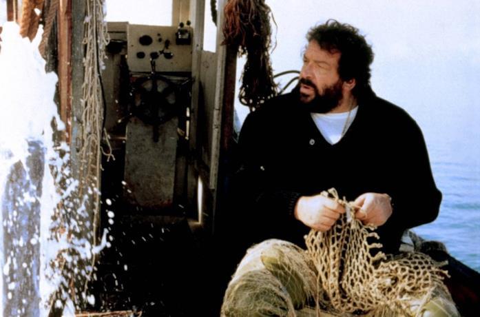 Bud Spencer in una scena del film Lo chiamavano Bulldozer