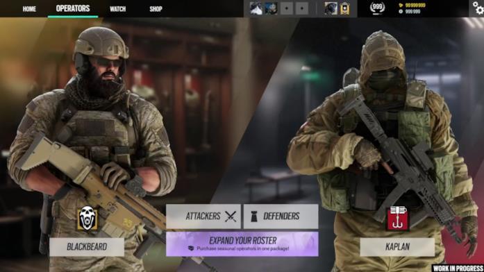 La sezione Operatori di Rainbow Six: Siege