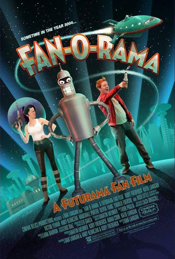 Leela, Bender e Fry nel poster ufficiale del fanfilm Fan-O-Rama