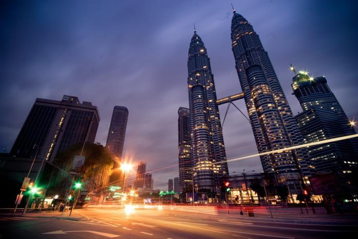 Le Petronas Twin Towers di Kuala Lampur