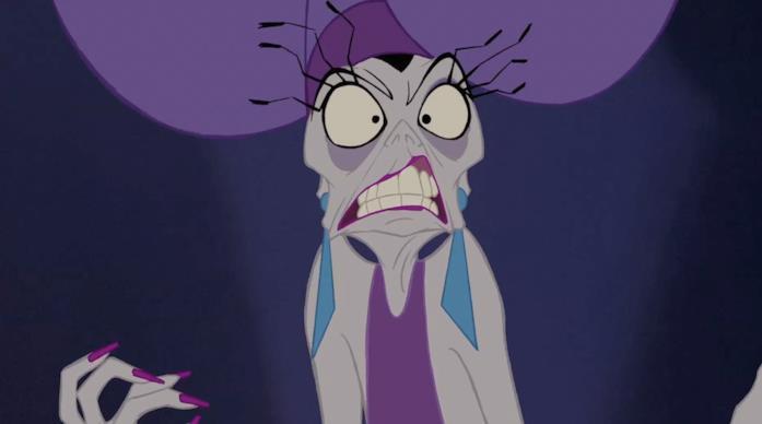 Yzma in una scena de Le follie dell'Imperatore