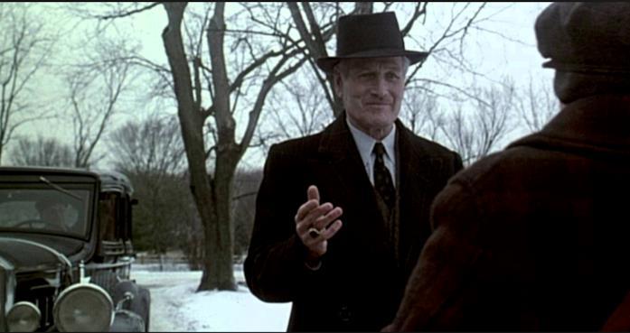 Una scena di Era mio padre con Paul Newman