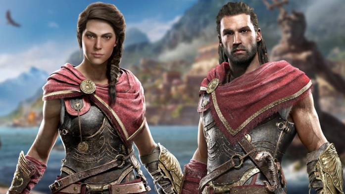 I protagonisti di Assassin's Creed Odyssey, Kassandra e Alexios