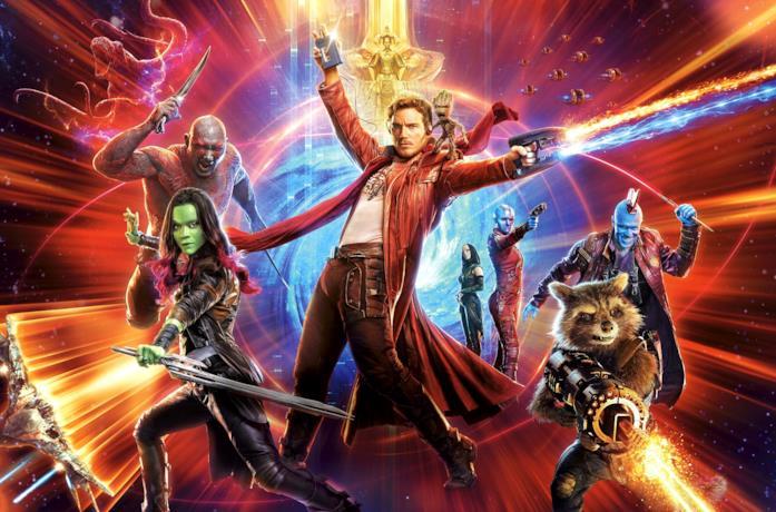Il poster promozionale di Guardiani della Galassia Vol. 2