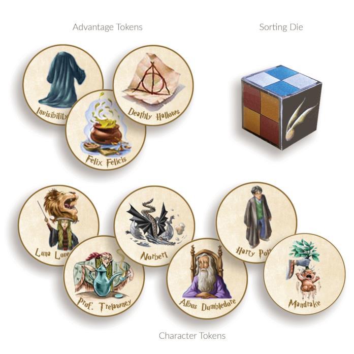 I token personaggio e vantaggio del gioco alcolico di Harry Potter