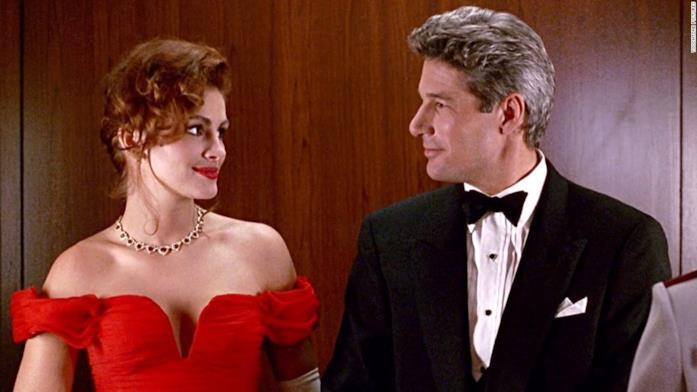 Julia Roberts e Richard Gere in Pretty Woman durante l'Opera