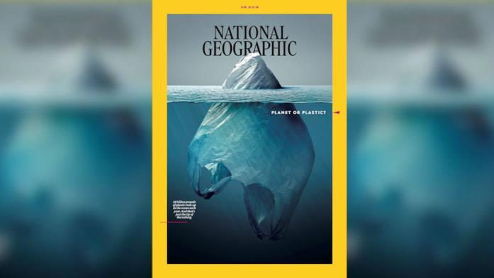 Il titolo dell'illustrazione di Jorge Gamboa è Iceberg Plástico