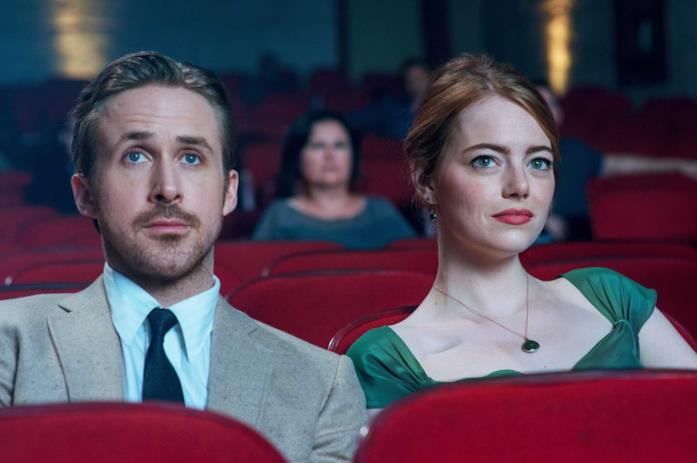 Una scena di La La Land al cinema