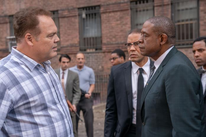 Forest Whitaker e Vincent D'Onofrio parlano in Godfather of Harlem
