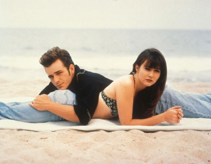 Luke Perry e Shannen Doherty