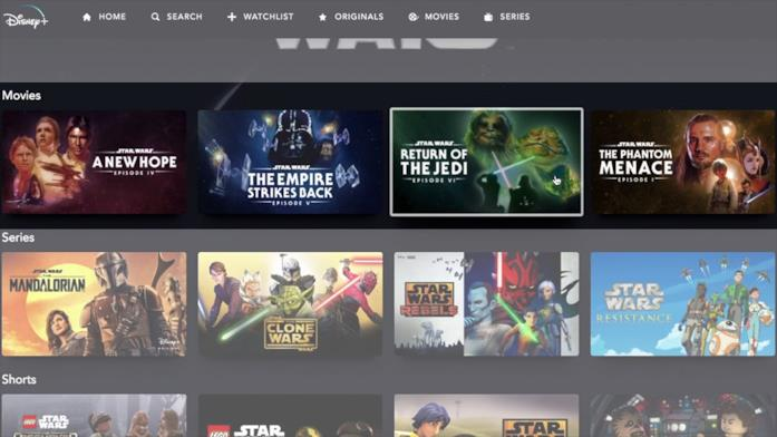 Tutti i Film di Star Wars su Disney+