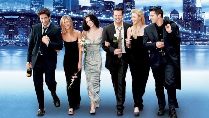 Il cast di Friends in un poster promozionale della serie