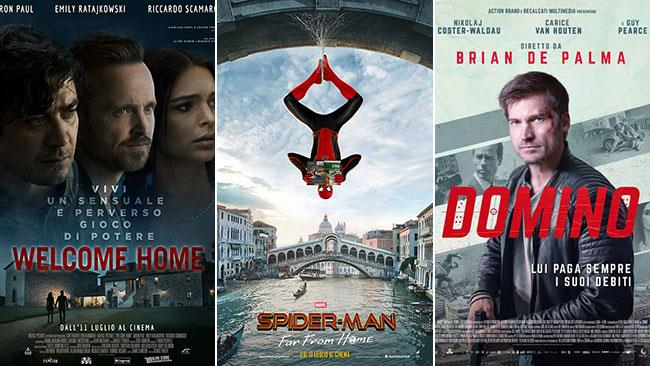 I poster di Welcome Home, Spider-Man: Far From Home, Domino
