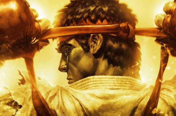Un primo piano di Ryu da Ultra Street Fighter IV
