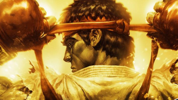 Un primo piano di Ryu da Ultra Street Fighter IV