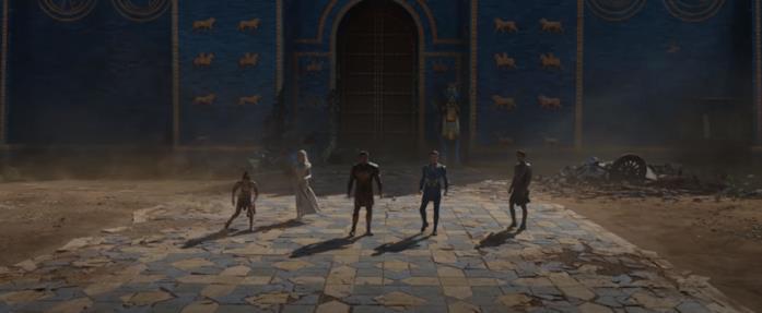 Gli Eterni all'esterno dell'ottava porta di Babilonia