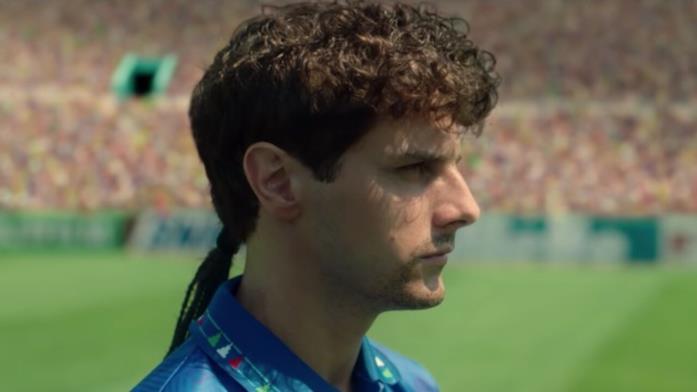 Andrea Arcangeli nei panni di Roberto Baggio