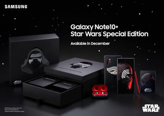 Il contenuto della confezione del Samsung Galaxy Note 10+ Star Wars Special Edition