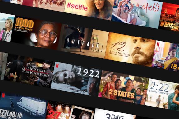 I titoli Netflix in ordine alfabetico