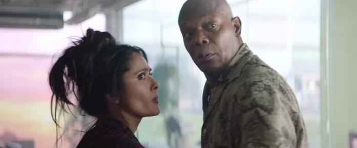 Samuel L. Jackson e Salma Hayek sono Darius e Sonia in Come ti ammazzo il bodyguard 2