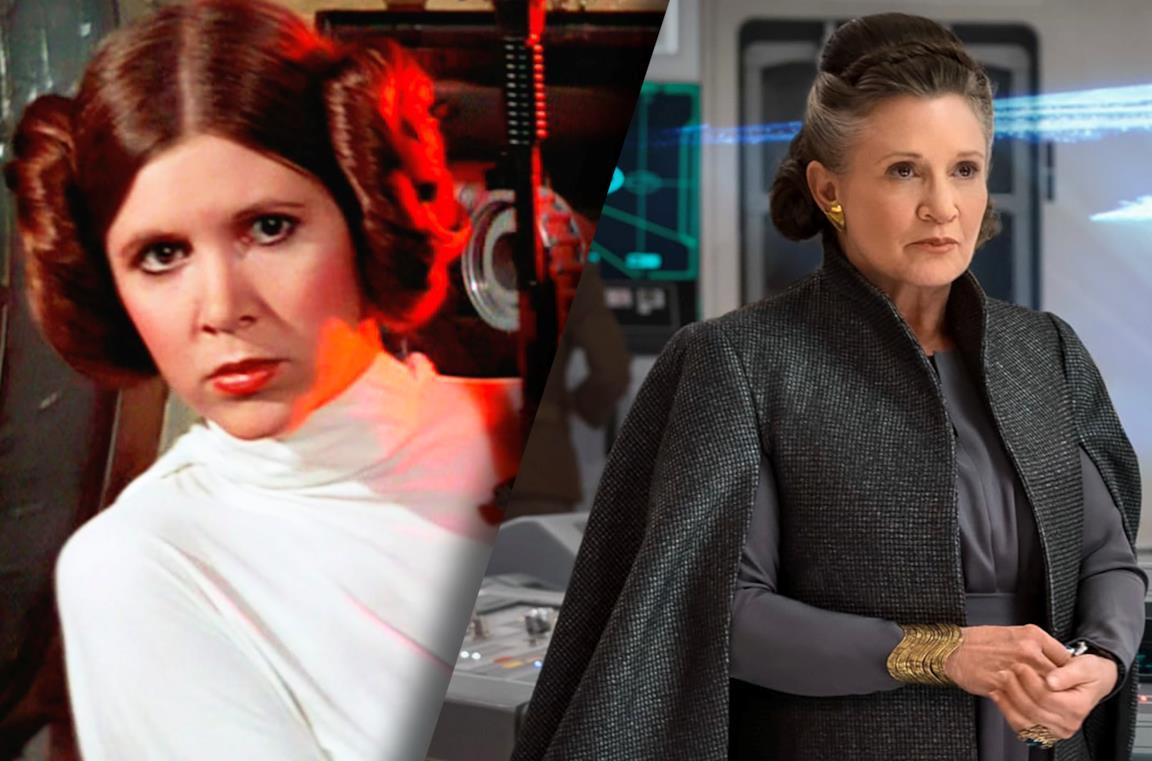 Carrie Fisher nei panni di Leia Organa in Star Wars