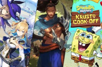 Da sinistra: Genshin Impact, Legends of Runeterra, SpongeBob