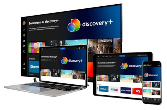 Discovery+ su smart tv, tablet, smartphon e pc