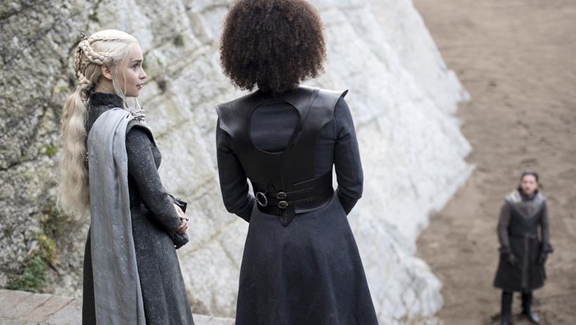 Missandei, Daenerys e Jon Snow